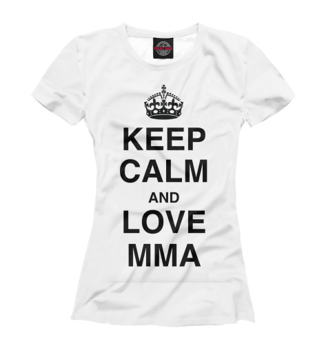Футболка Print Bar Keep Calm And Love MMA футболка wearcraft premium printio keep calm and manezhka green