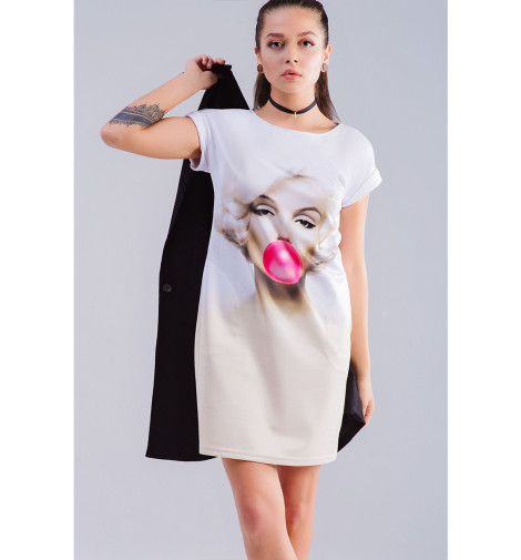 Платье летнее Print Bar Мэрилин Монро сумка printio сова мэрилин монро суперсова goofi