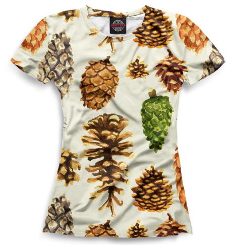 Женская футболка Шишки