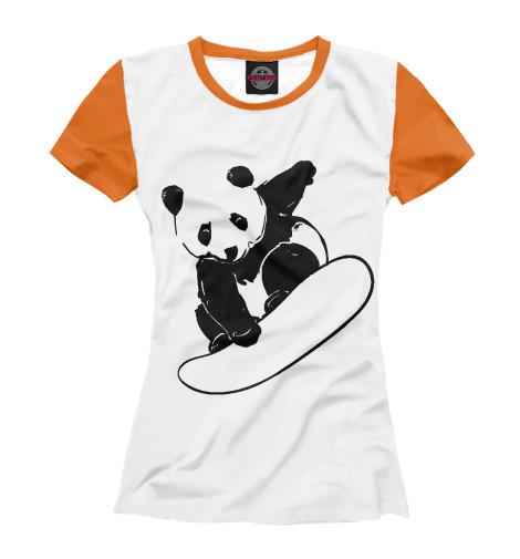 Футболка Print Bar Panda Snowboarder футболка print bar panda color