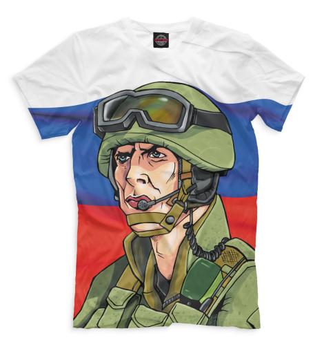Мужская футболка Солдат