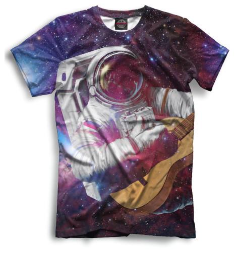 Мужская футболка Космонавт с гитарой