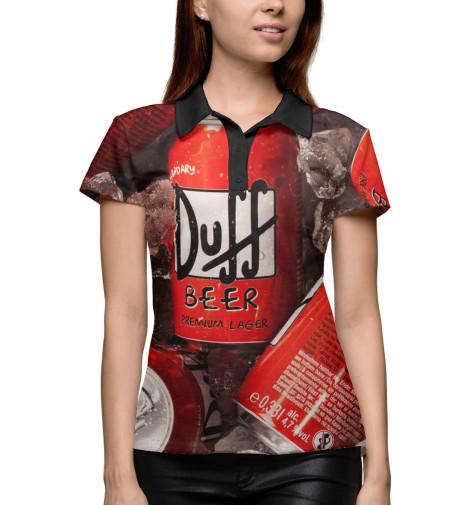 Поло Print Bar Duff Beer поло print bar duff beer