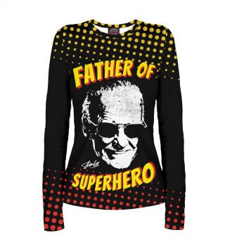 Женский лонгслив Stan Lee: Father of Superhero