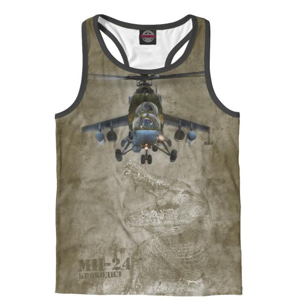 Купить Мужская майка-борцовка Вертолет Ми-24 «Крокодил» VVS-867412-mayb-2