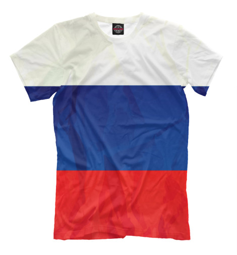 Фото - Мужская футболка Россия от Print Bar белого цвета