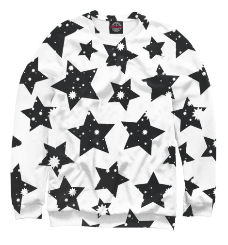 Свитшот Print Bar Звездочки звездочки черные kostumerka