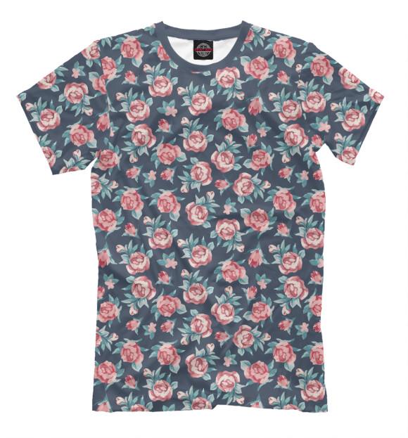 Купить Мужская футболка Цветы CVE-905346-fut-2