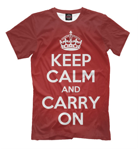 Футболка Print Bar Keep calm and carry on лонгслив printio keep calm and carry on