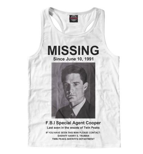 Майка борцовка Print Bar Agent Cooper Missing girl missing