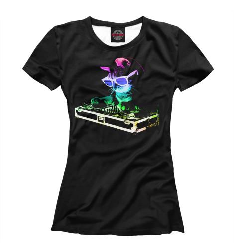Футболка Print Bar Кот Диджей футболка классическая printio кот диджей