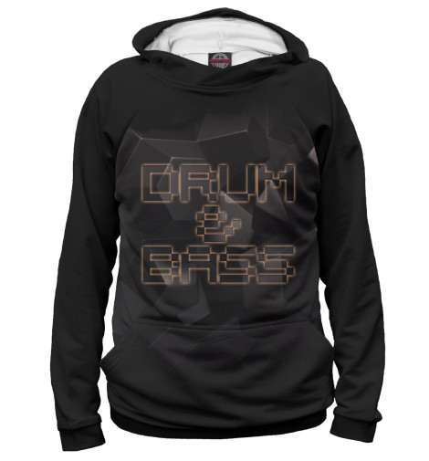 Худи Print Bar Drum-n-Bass басовый пэд millenium e drum bass drum pad