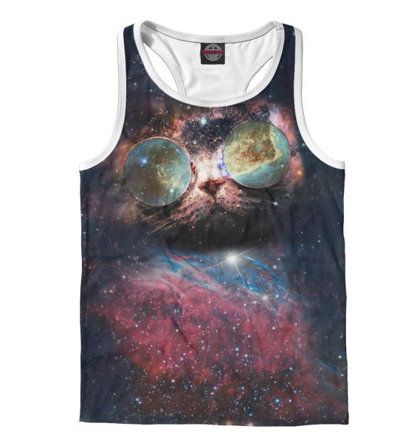 Купить Мужская майка-борцовка Космический кот HIP-102262-mayb-2