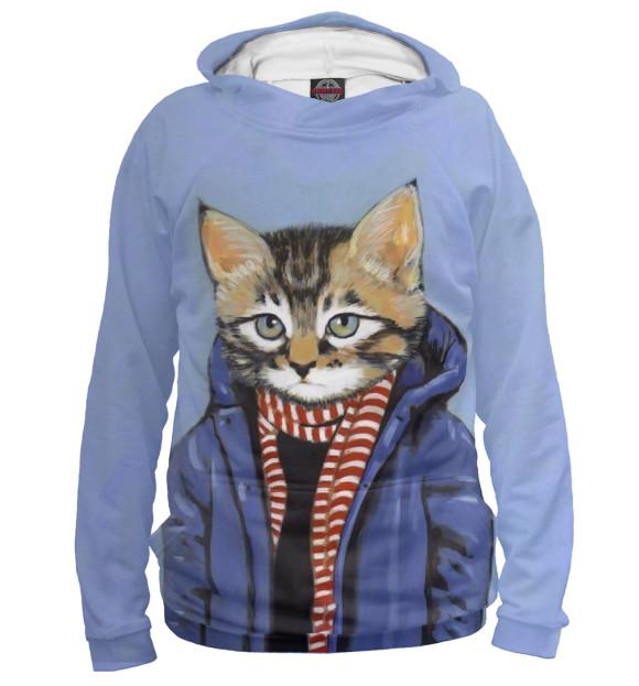 Купить Мужское худи Кот в пальто HIP-745242-hud-2
