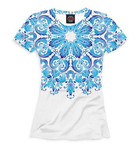 Женская футболка Гжель