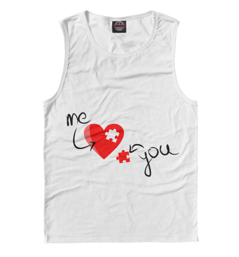Майка Print Bar Me love You love худи print bar me love you love