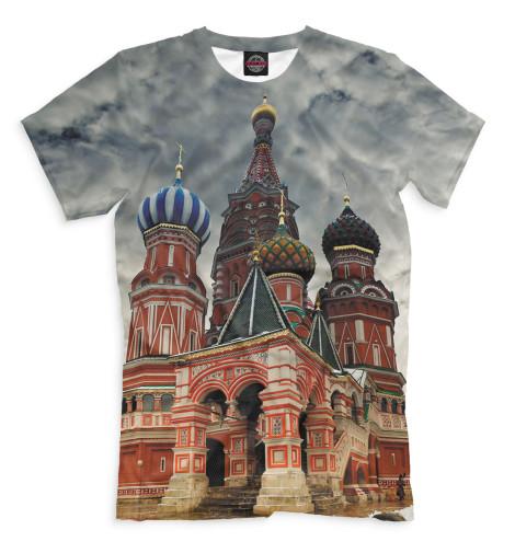 Мужская футболка Собор Василия Блаженного
