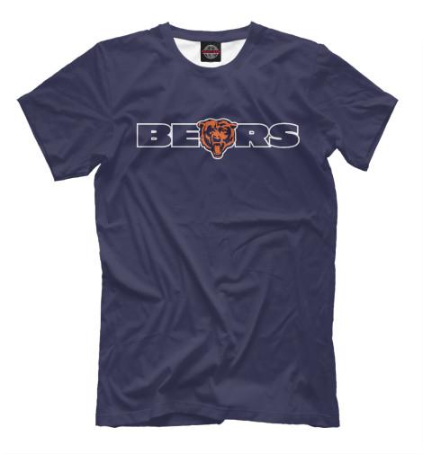 Футболка Print Bar Chicago Bears chicago bears classic cuffed winter knit hat orange