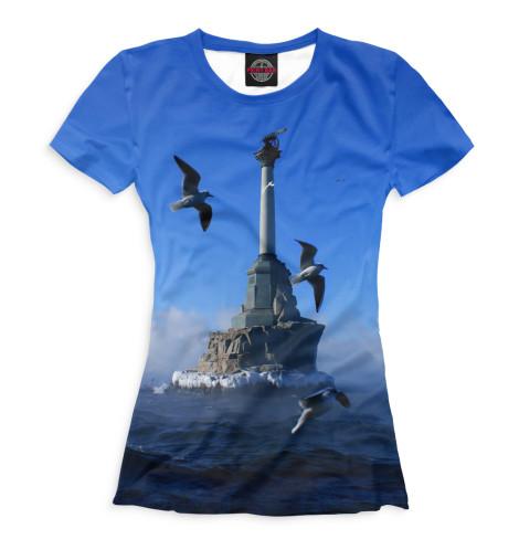 Женская футболка Памятник затопленным кораблям Print Bar KRY-355248-fut-1