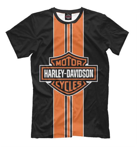 Футболка Print Bar Harley-Davidson chrome custom motorcycle skeleton mirrors for harley davidson softail heritage classic
