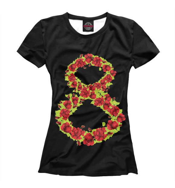 Купить Женская футболка Цветущая 8-ка MRT-200967-fut-1