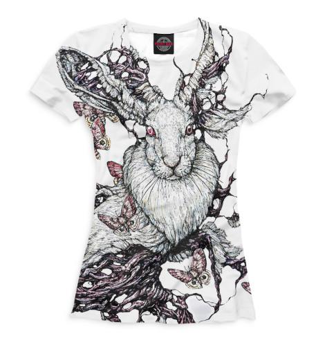 Женская футболка Кролики