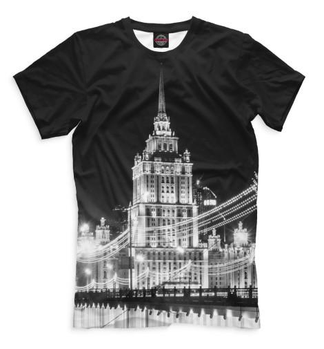 Мужская футболка Ночная Москва