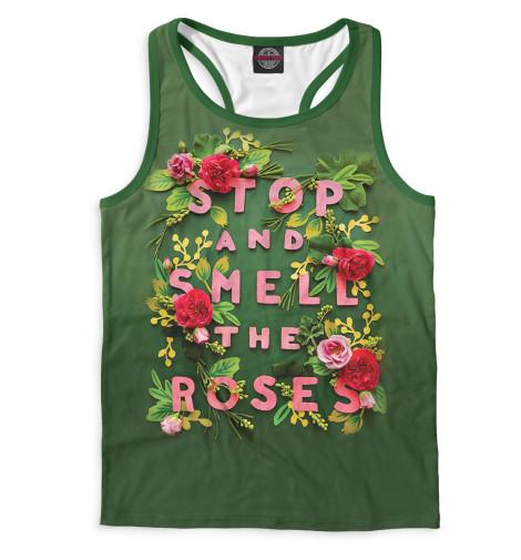 Мужская майка-борцовка Stop and Smell the Roses Print Bar NAD-845342-mayb-2
