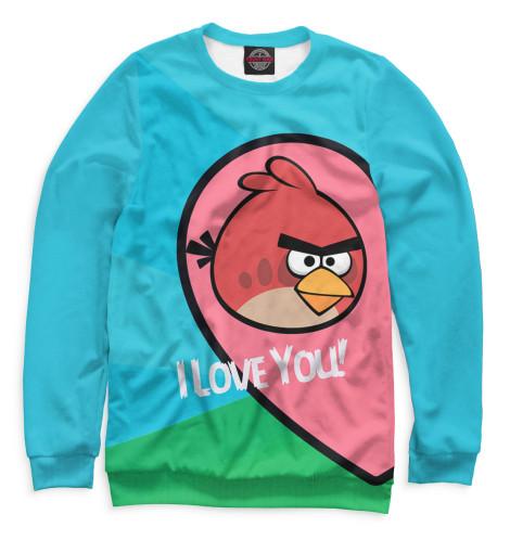 Мужской свитшот Angry Birds in love