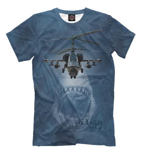 Футболка Print Bar Вертолет -50 «Черная акула»