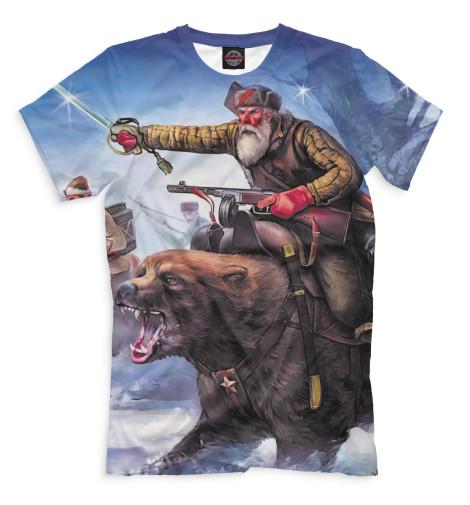 Мужская футболка Верхом на медведе