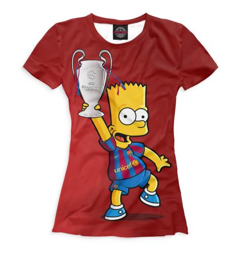 Женская футболка Барт с кубком