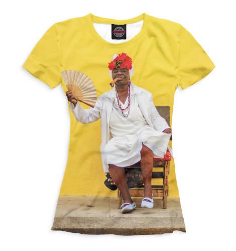 Женская футболка Кубинка