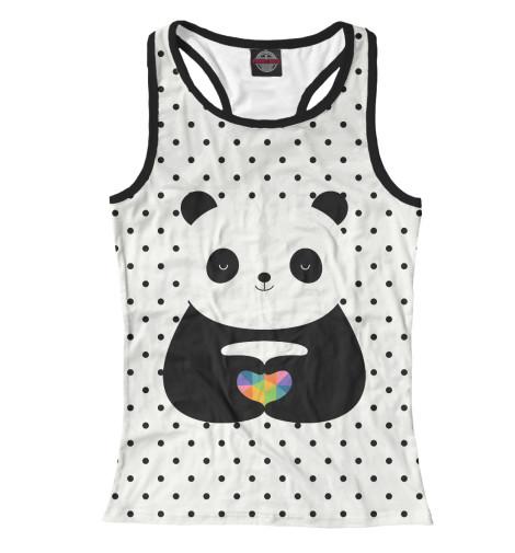 Майка борцовка Print Bar Любовь панды майка борцовка print bar пряничная любовь