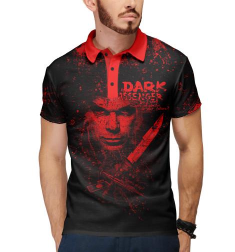 Поло Print Bar Dark Passenger