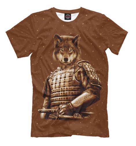 Футболка Print Bar Волк самурай футболка print bar волк самурай