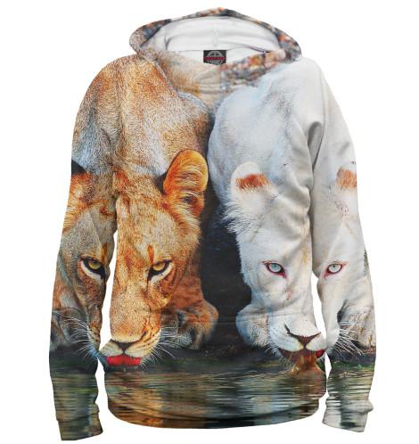 Мужское худи Львы