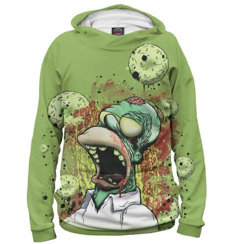 Мужское худи Гомер-зомби
