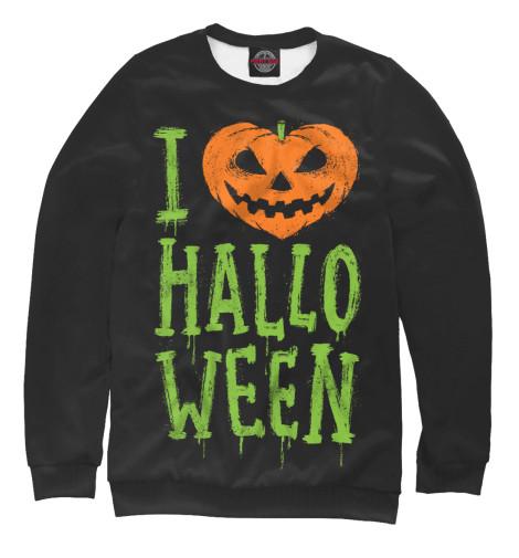 Фото - Женский свитшот I Love Halloween от Print Bar белого цвета