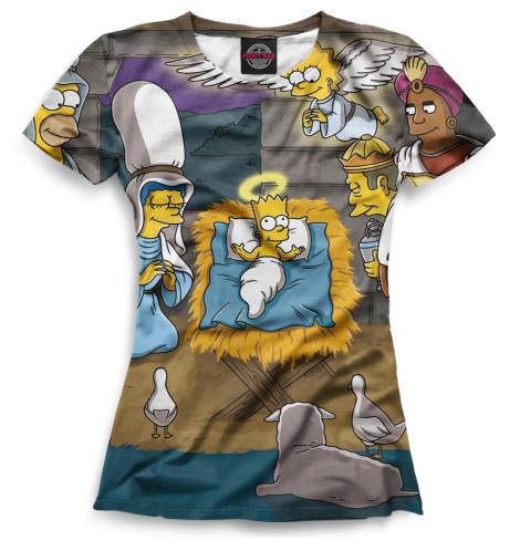 Женская футболка Симпсоны