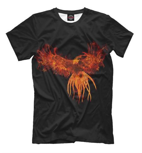 Фото - Мужская футболка Феникс от Print Bar белого цвета