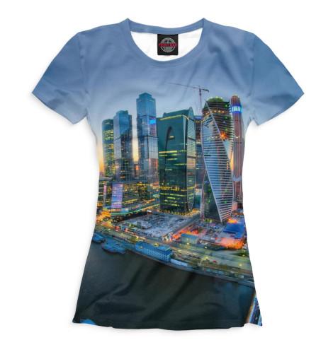 Женская футболка Москва-Сити