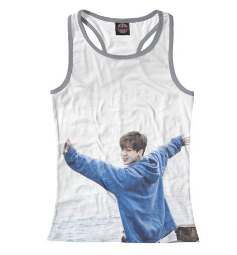 Майка борцовка Print Bar Jimin BTS 2017 new bts bangtan boys jung kook jimin backpack bts printing backpack canvas school bags mochila travel bags laptop backpack