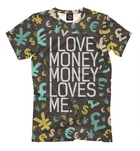 Футболка Print Bar I love money смеситель для раковины d