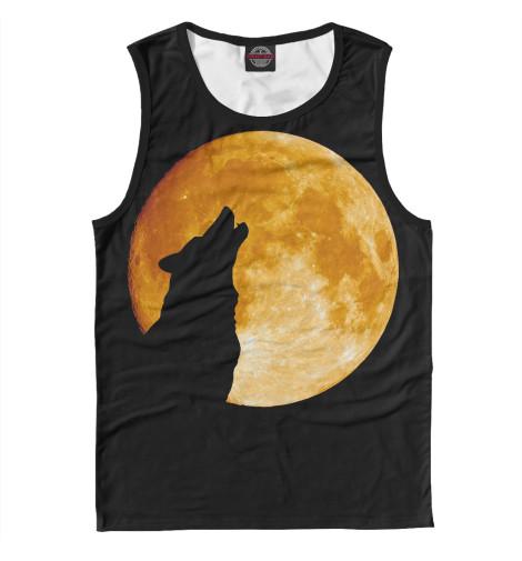 где купить Майка Print Bar Волк воет на луну по лучшей цене