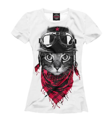Футболка Print Bar Кот пилот футболка с полной запечаткой для девочек printio кот кот