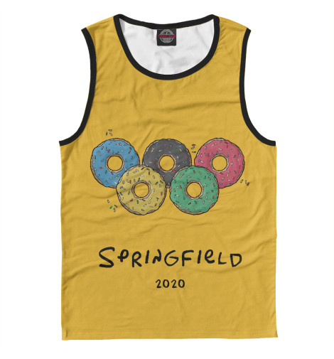 Майка Print Bar Springfield 2020 майка springfield springfield sp014emtcb03