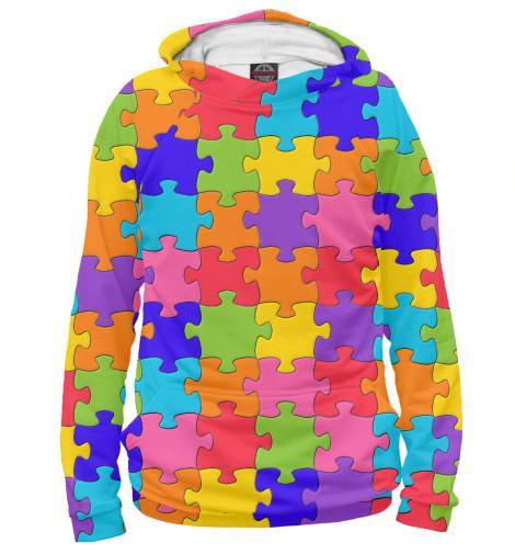 Купить Худи для девочки Разноцветный Пазл APD-575678-hud-1