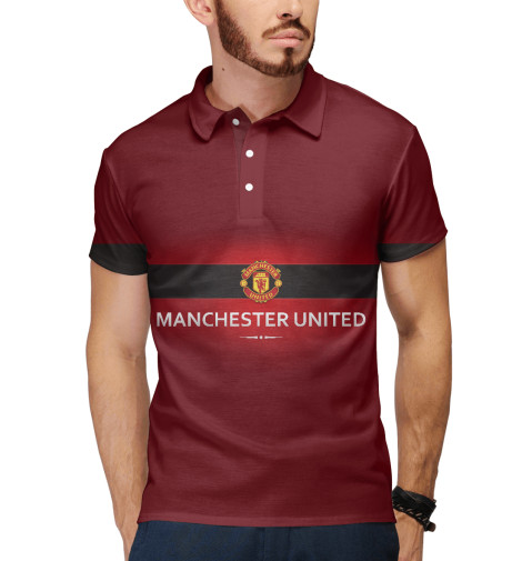 Поло Print Bar Manchester united adidas поло manchester united fc 3 stripes polo shirt