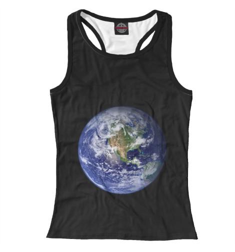 Майка борцовка Print Bar Планета Земля самая одинокая планета